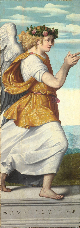 Ange en adoration, Moretto de Brescia
