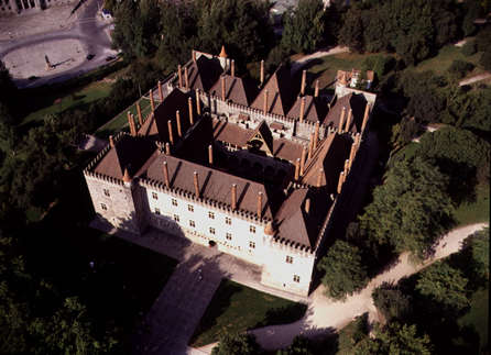 The Palace of the Dukes, in Guimaraes, was seat of the House of Braganza from 1420 until Fernando II of Braganza was executed for treason by King Joao II in 1483. Paco dos Duques 1.jpg