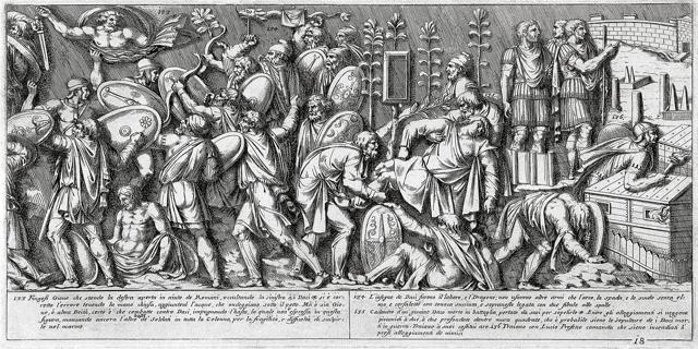 English: Fight scenes from the Dacian-Roman wa...