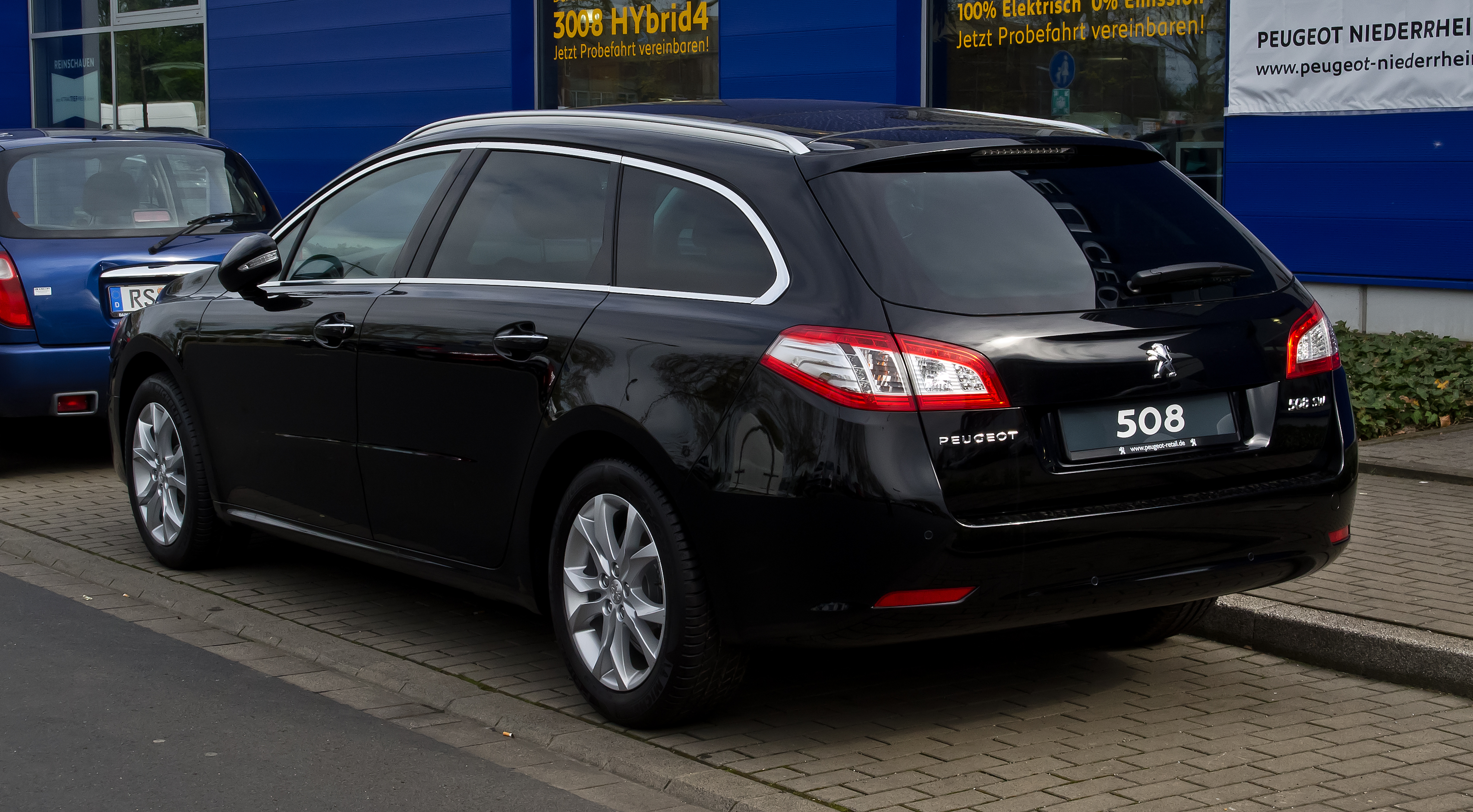 file peugeot 508 sw hdi fap 160 allure heckansicht 28 april 2012 d simple. Black Bedroom Furniture Sets. Home Design Ideas