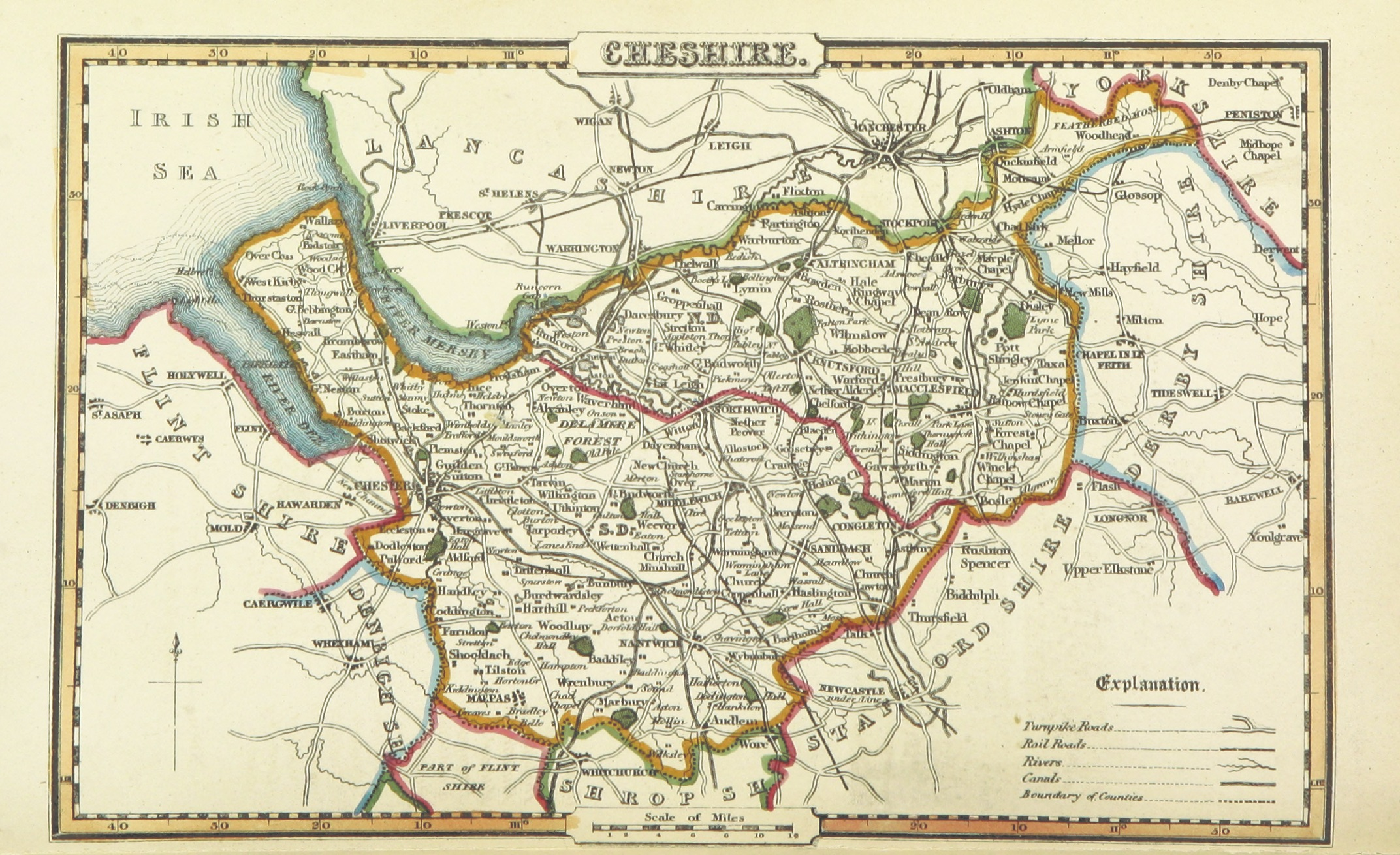 File Pigot And Co 1842 P2 018 Map Of Cheshire Jpg Wikimedia