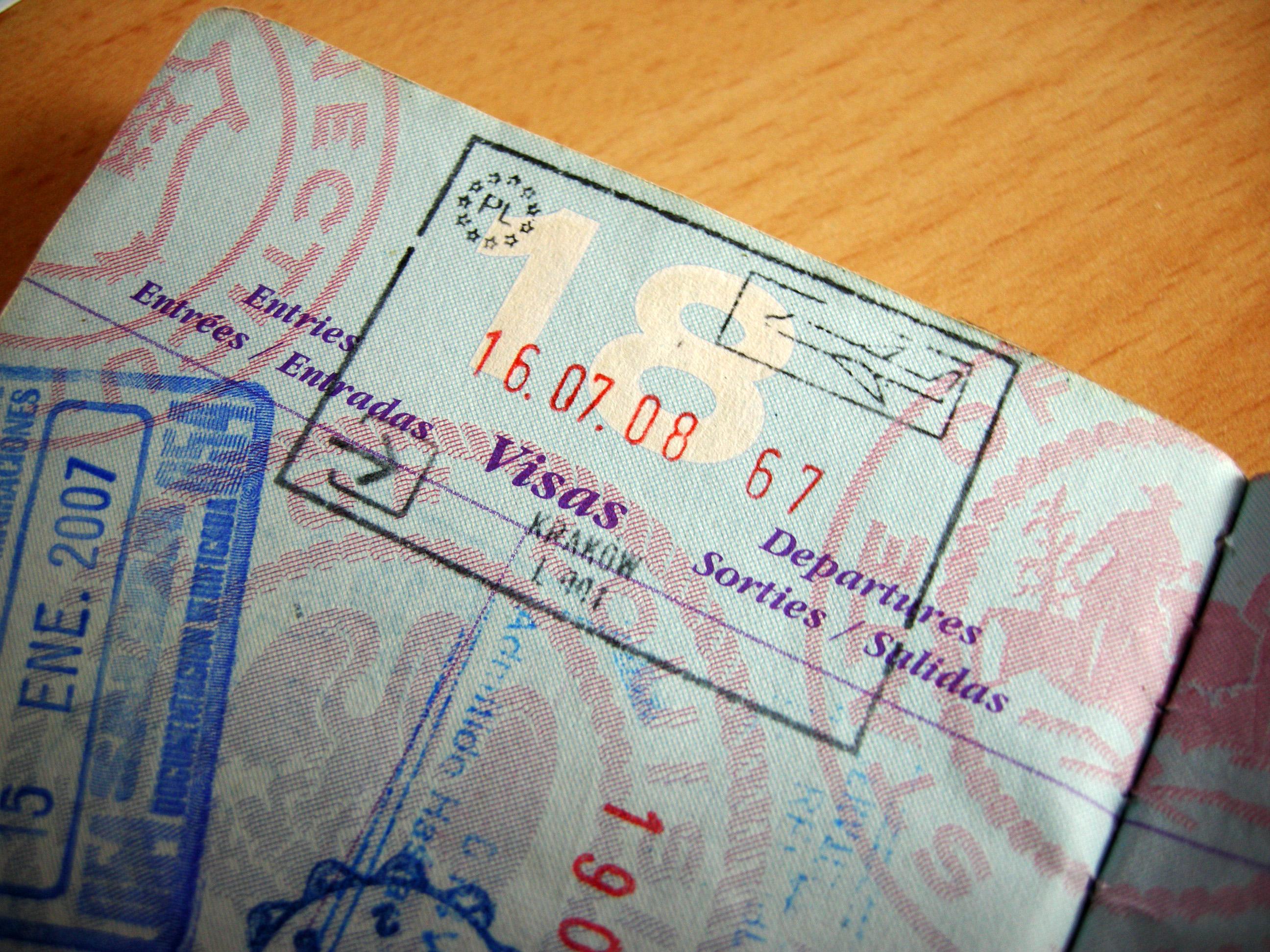 FilePoland Krakow Passport StampJPG