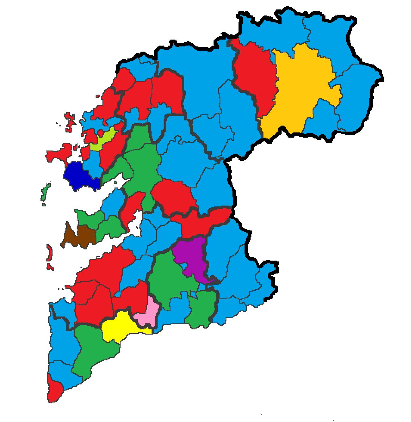 Mapa De Pontevedra Provincia.Provincia De Pontevedra Wikiwand