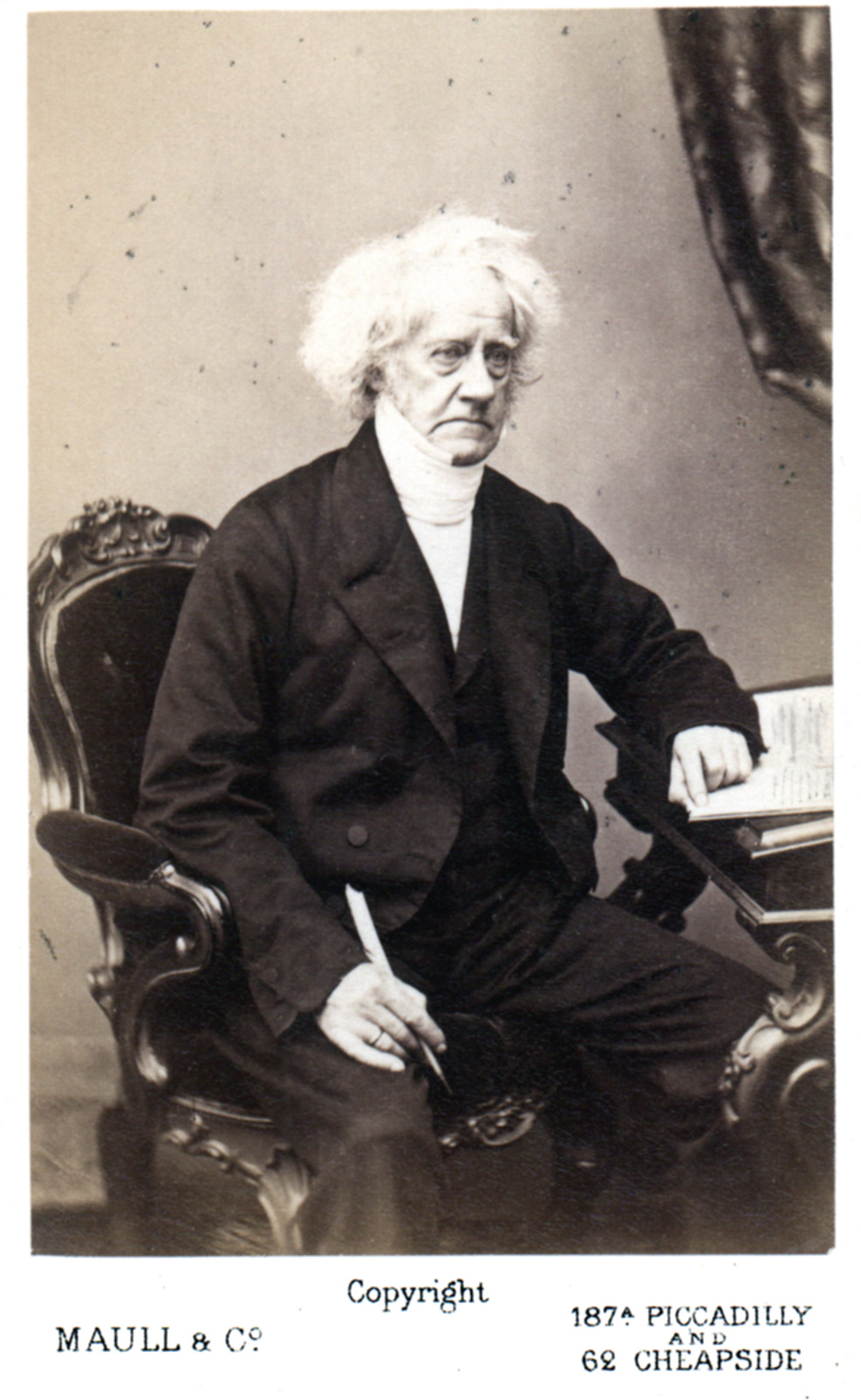 CdV of Sir John Herschel. Taken 1860's by Maull & Polybank