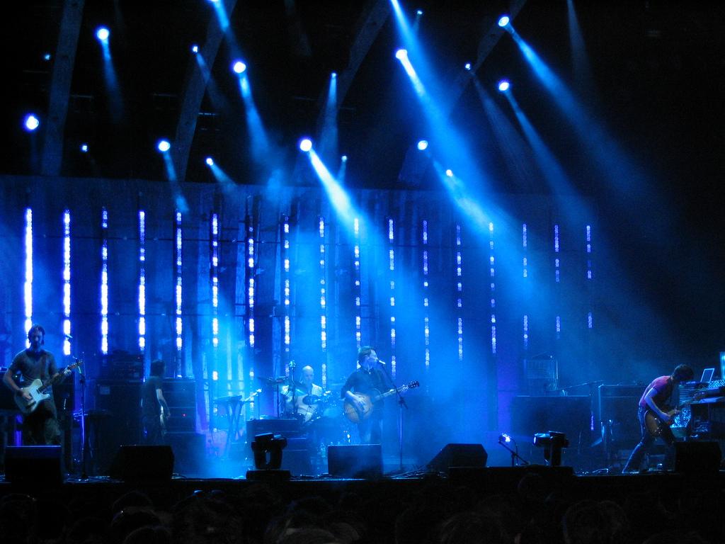 Radiohead en el Festival de Coachella (2004).