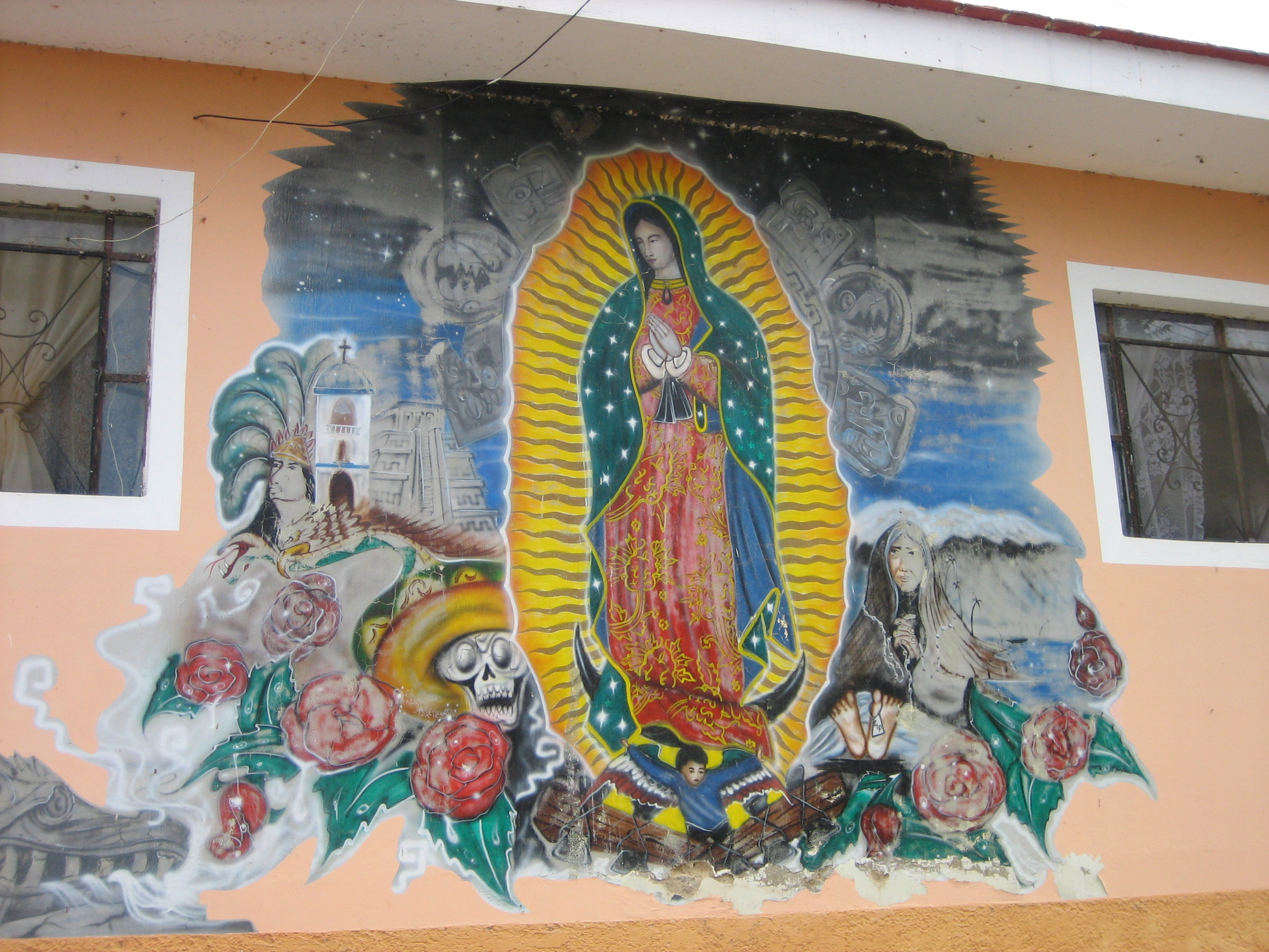 File religious mural in for Christian mural