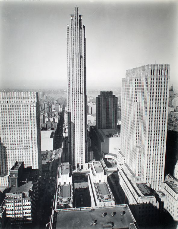 Rockefeller Center from 444 Madison Avenue in Manhattan in1937