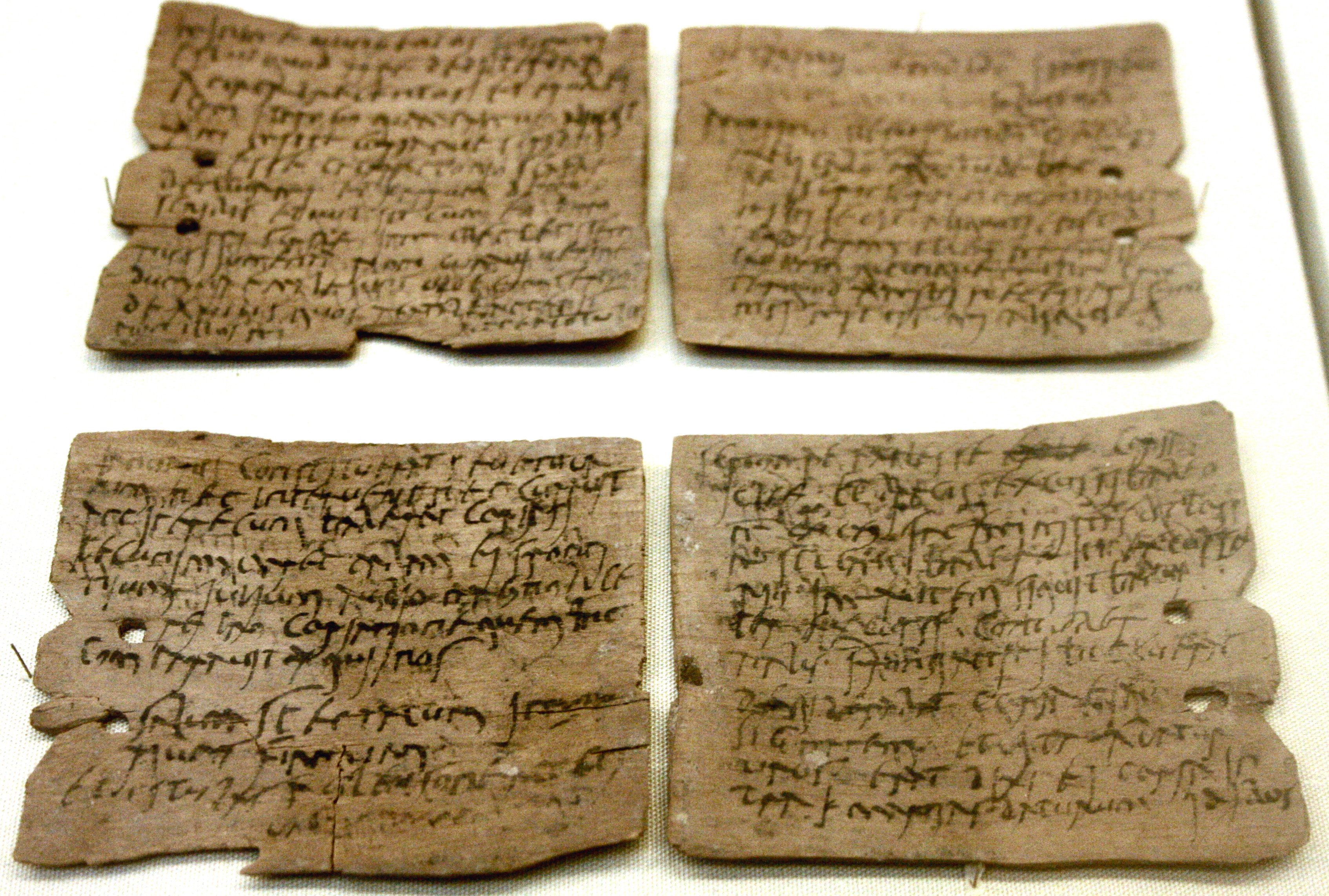Roman letter concerning supplies of wheat, hides and sinews (1st-2nd century AD)