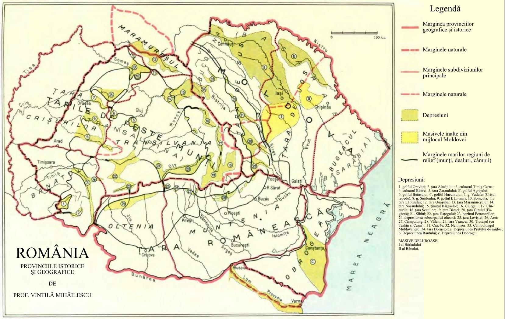 File Romania Harta Provinciilor Geografice Si Istorice Jpg