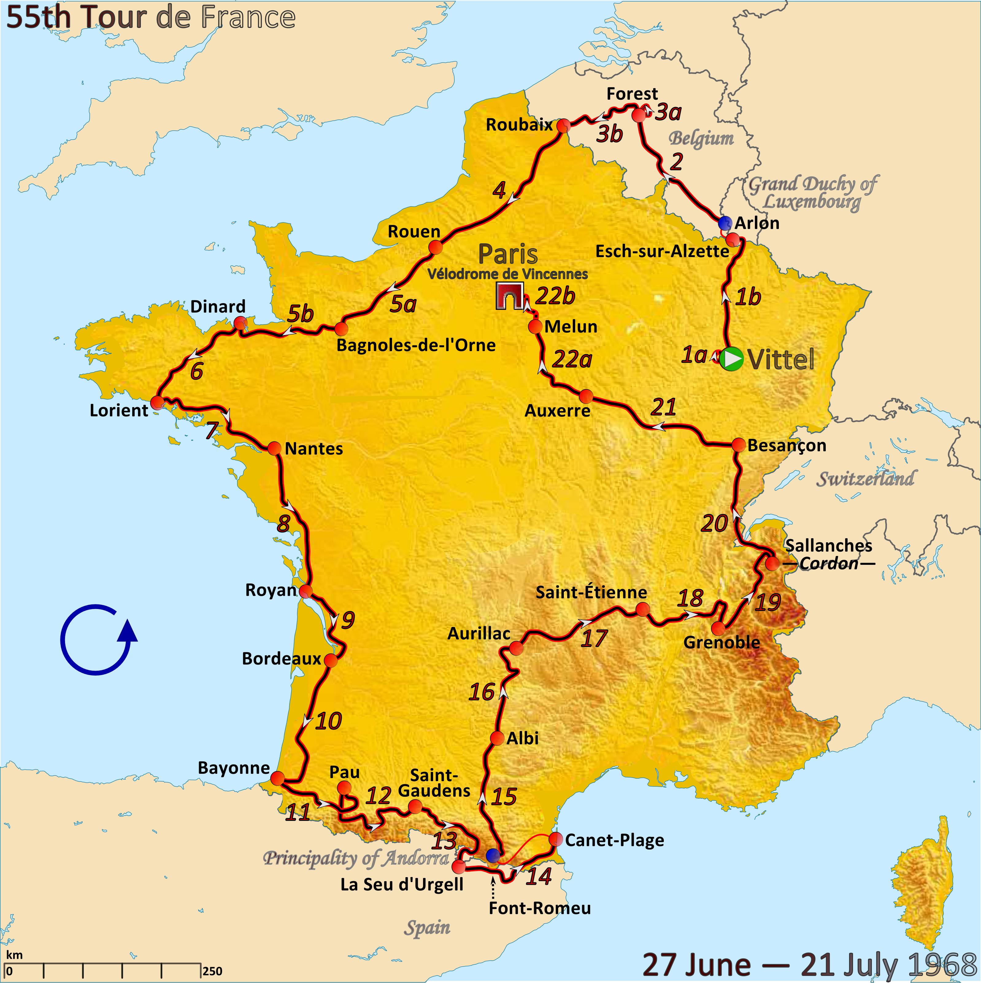 Tour De France De 1968 Wikipedia A Enciclopedia Livre