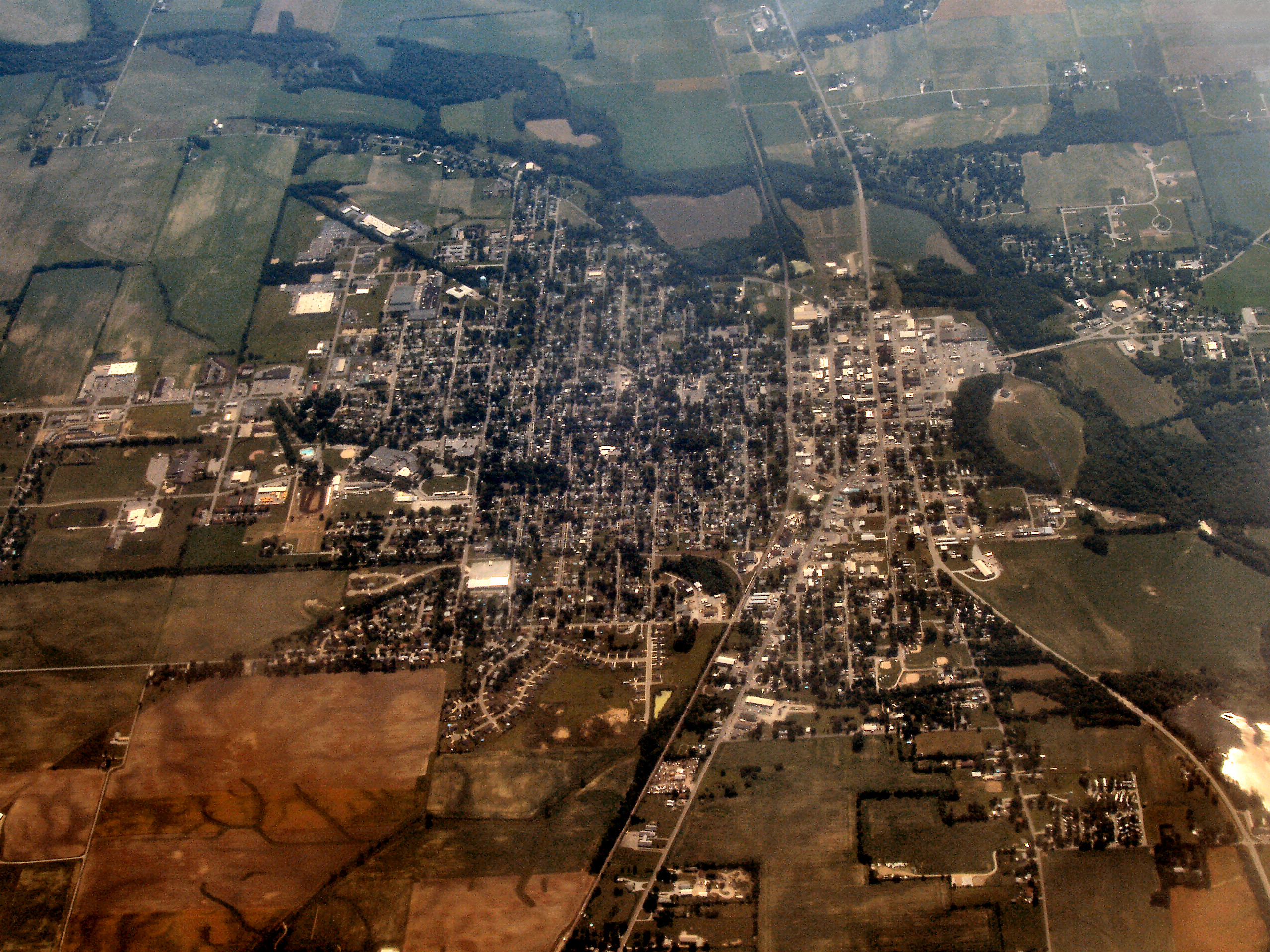 Indiana rush county -  File Rushville Indiana From Above Jpg