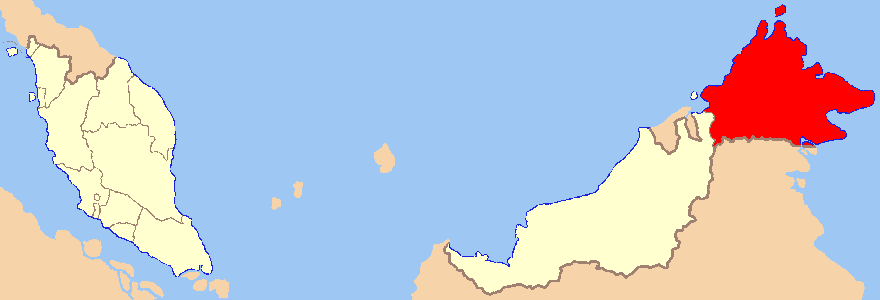 Description sabah state locator