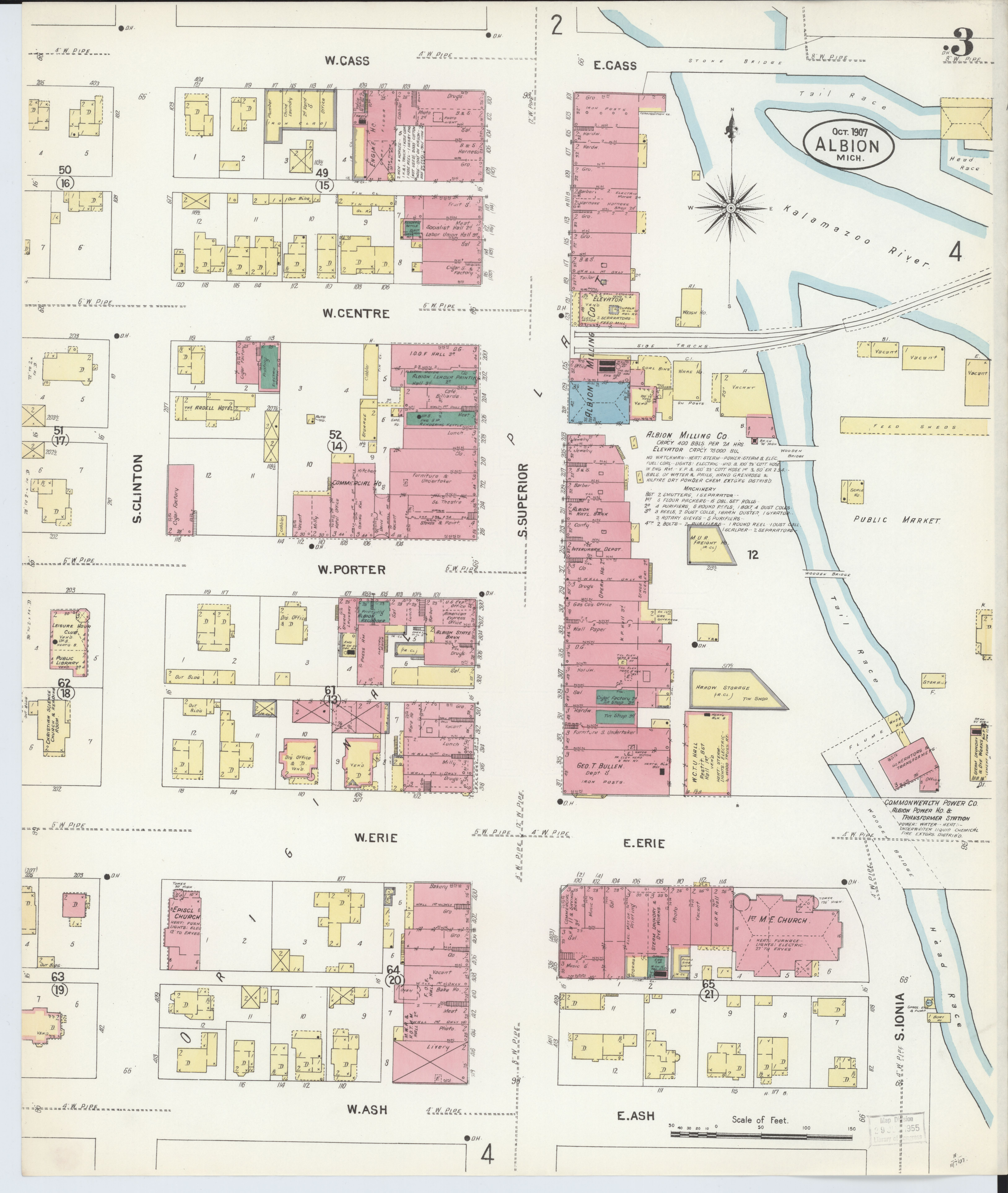 File:Sanborn Fire Insurance Map from Albion, Calhoun County