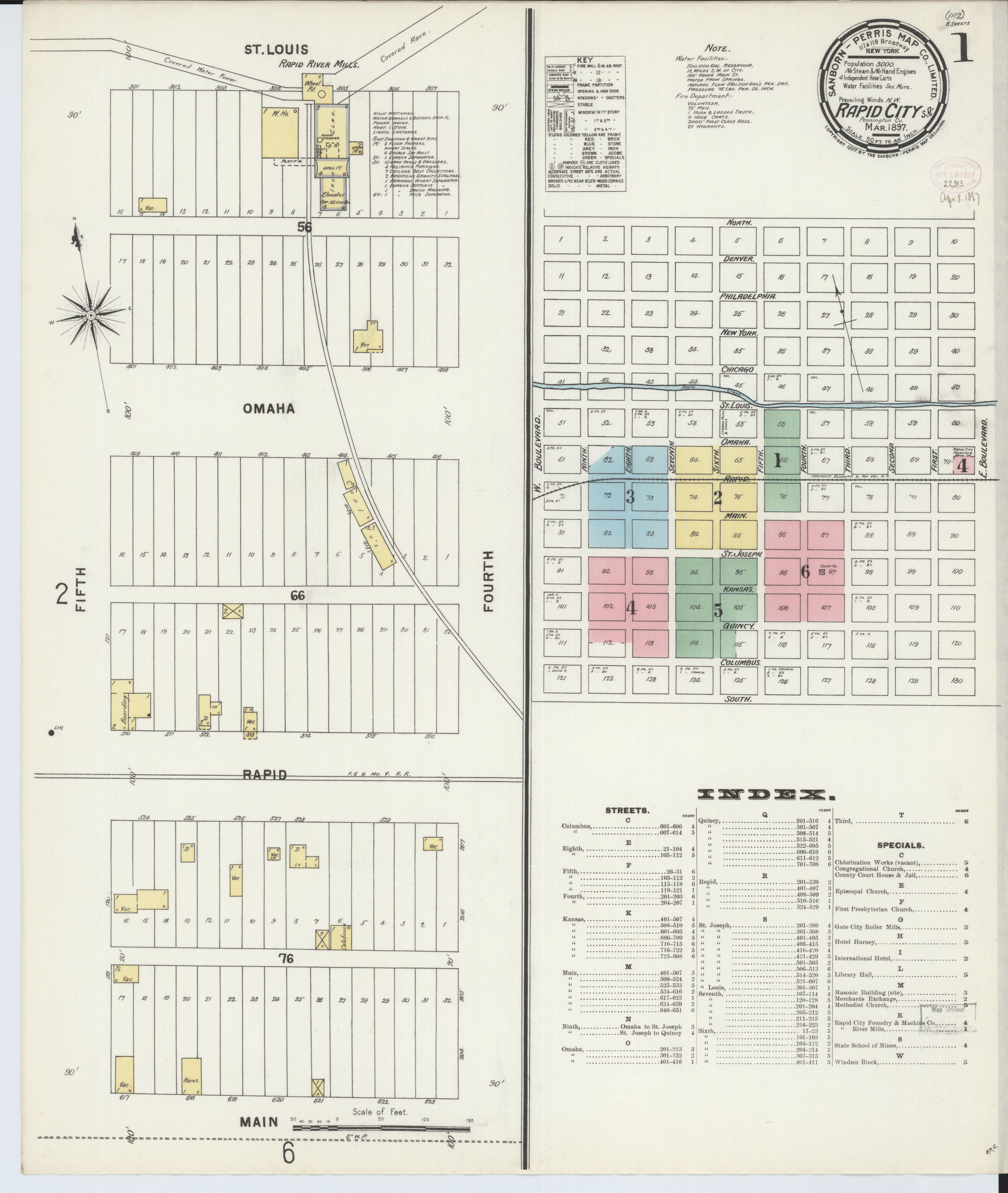 File:Sanborn Fire Insurance Map from Rapid City, Pennington