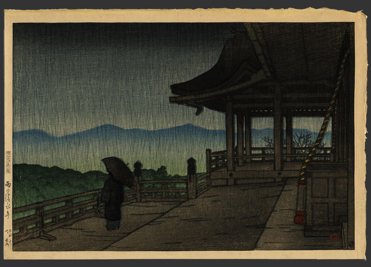 filetabi miyage dai nishū ame no kiyomizudera by kawase