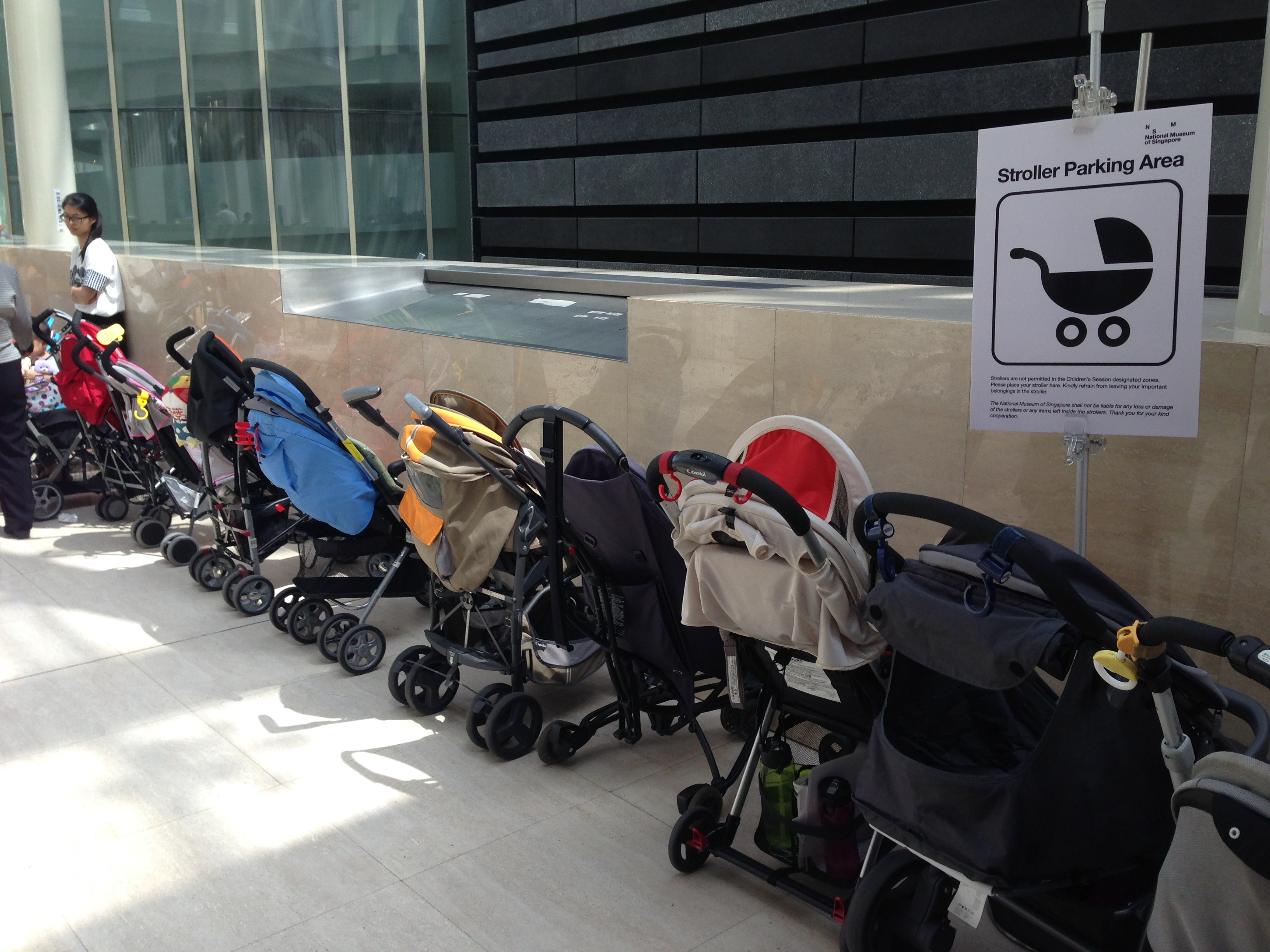File:Temporary stroller parking area, National Museum of Singapore ...