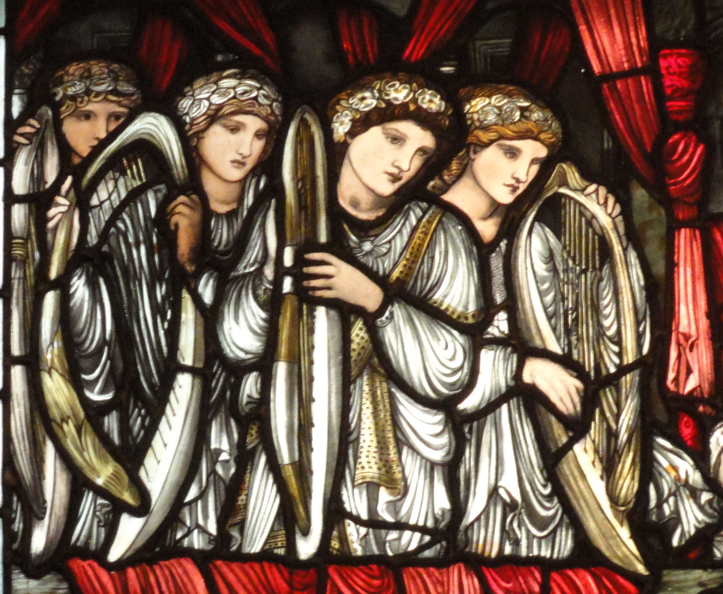 Image result for burne-Jones trinity church Boston images