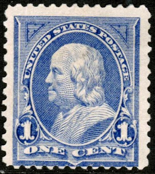 1903 1c One Cent Ben Franklin Series 1902 Used Us Postage