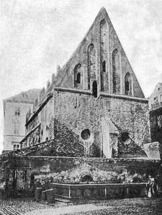 Synagogue Staranova à Prague.