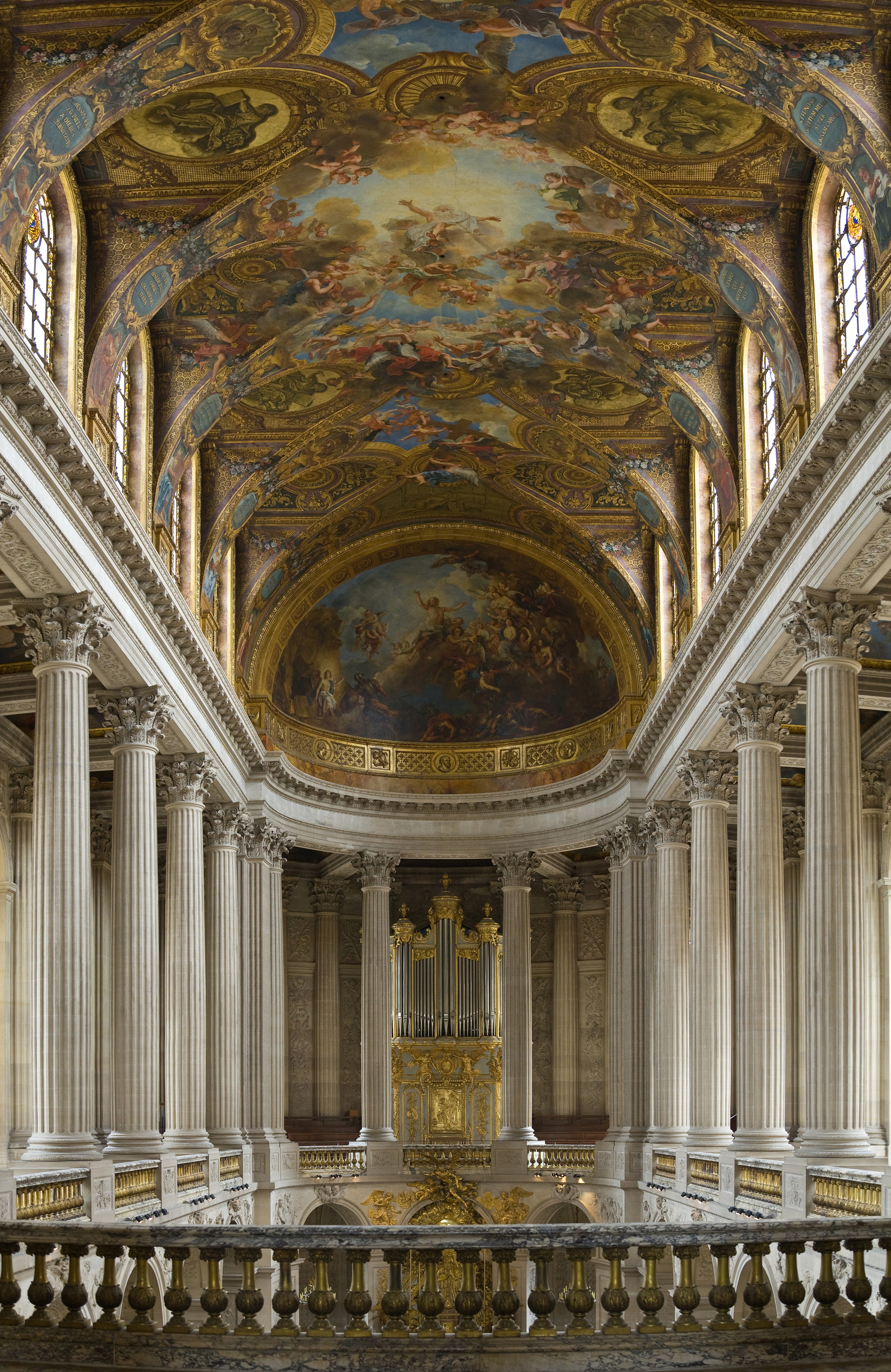 Versailless Chapel As Seen From The Tribune Royale An Outstanding Example Of French Baroque