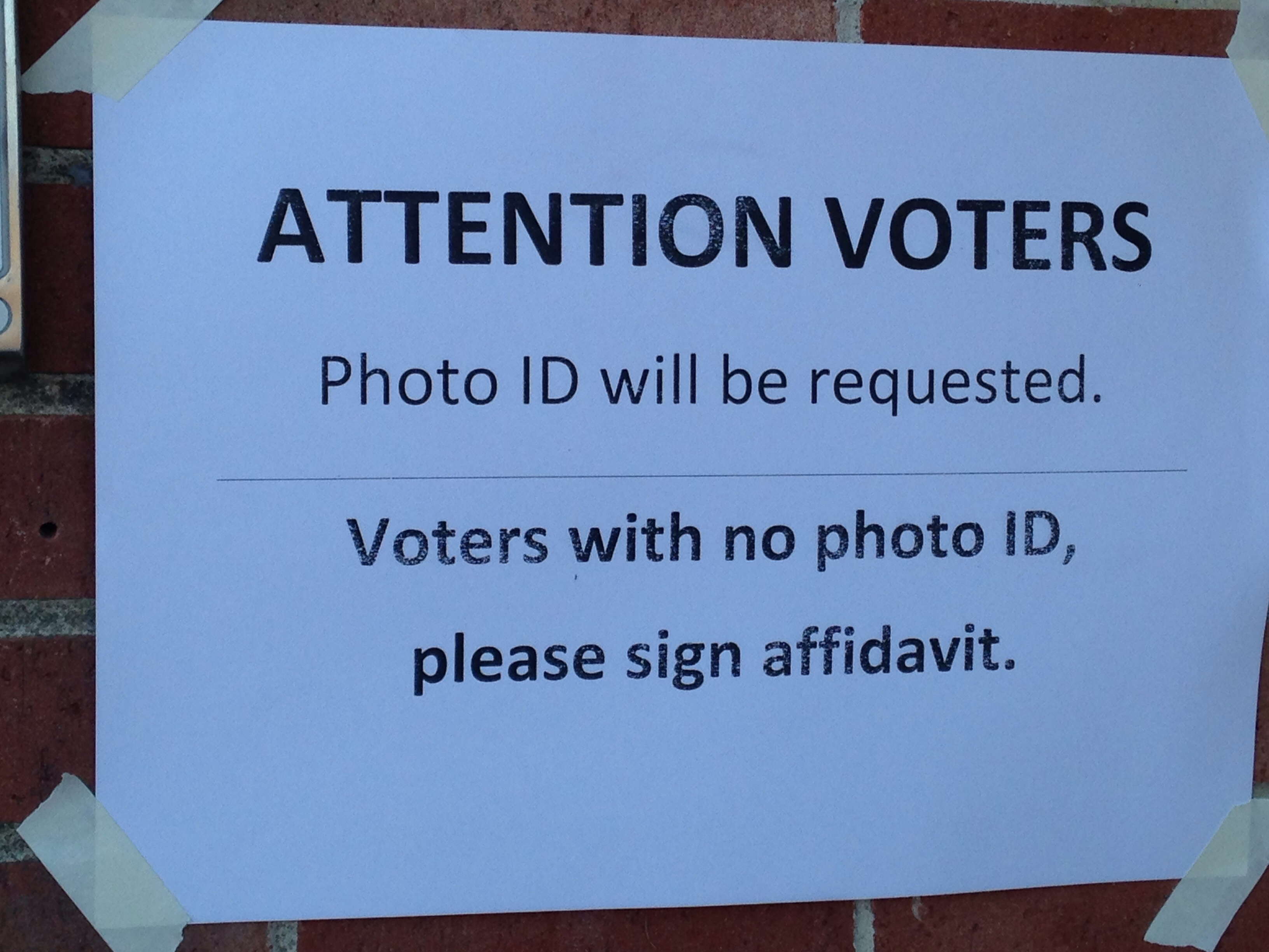 Voter ID required - New Hampshire