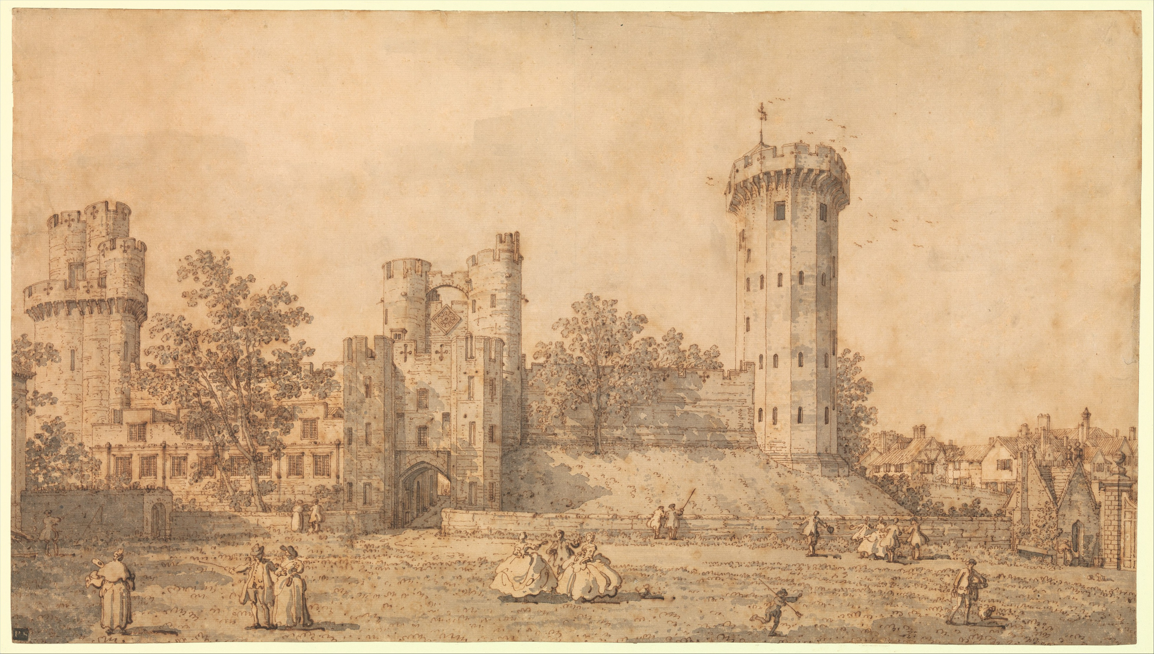 file:warwick castle- the east front met dp358985 - wikimedia