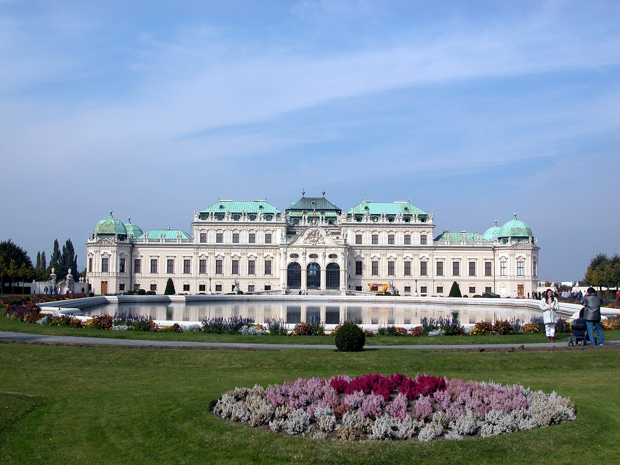 Vídeňský zámek Belveder, zdroj: wikipedia.fr