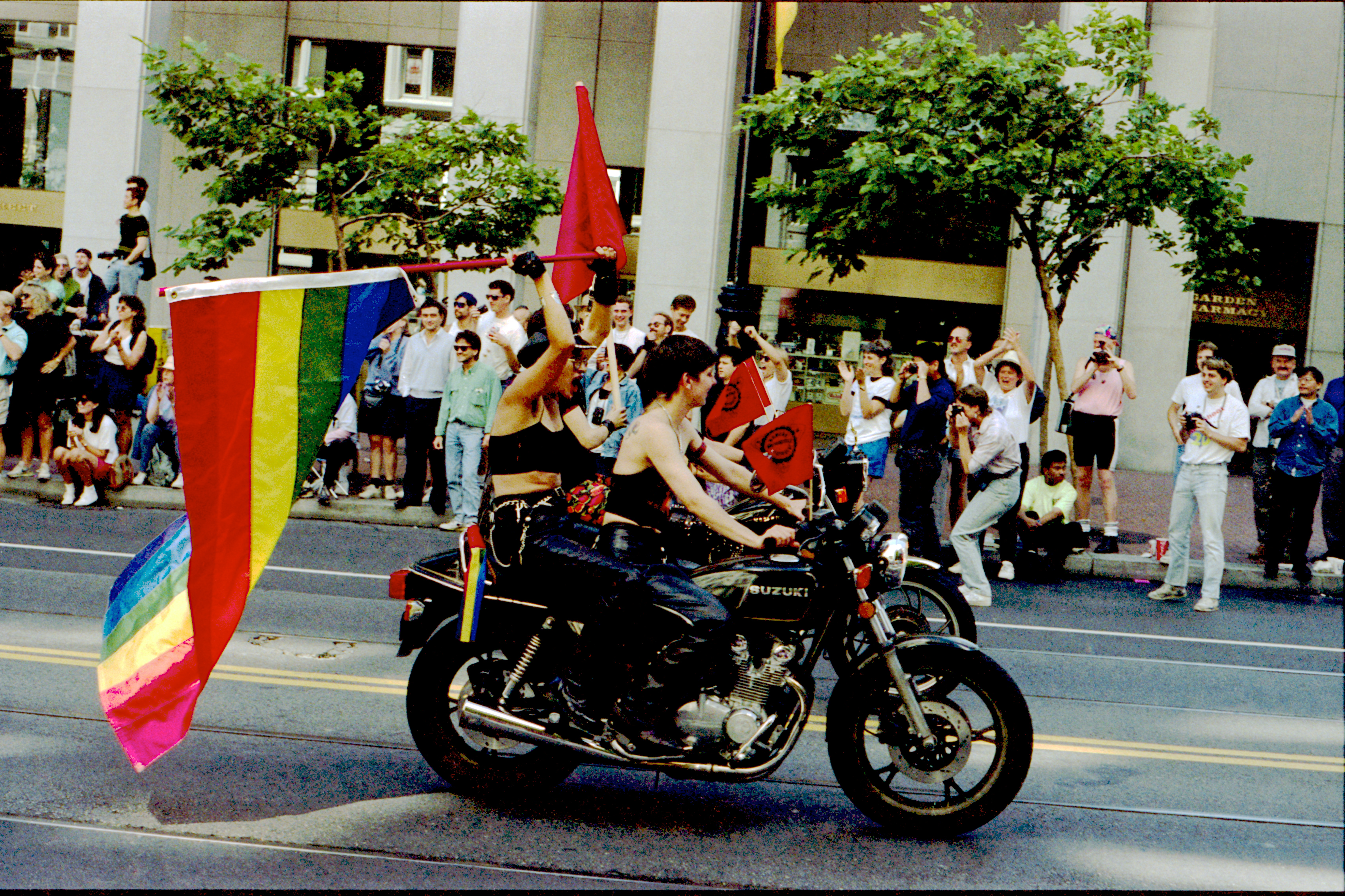 Women's Motorcycle Contingent at the 1991 San Francisco Pride Parade