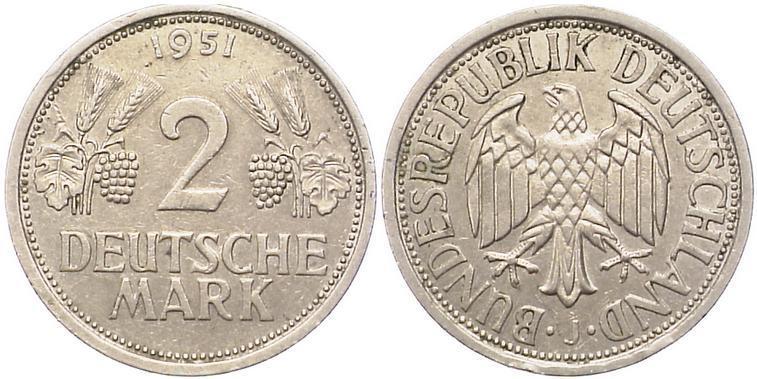 2 deutsche mark 1951