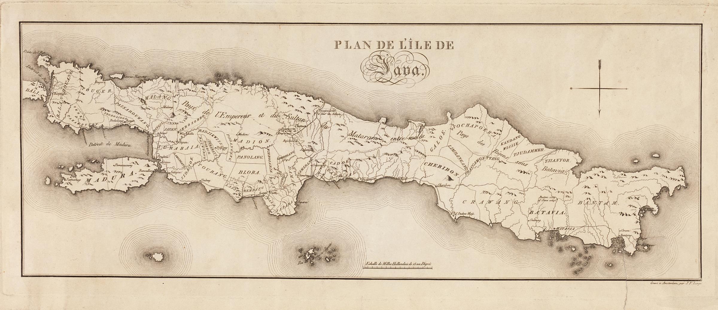 Map de Java , Indonésie