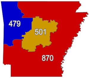 Fayetteville Arkansas Zip Code Map.List Of Arkansas Area Codes Wikipedia