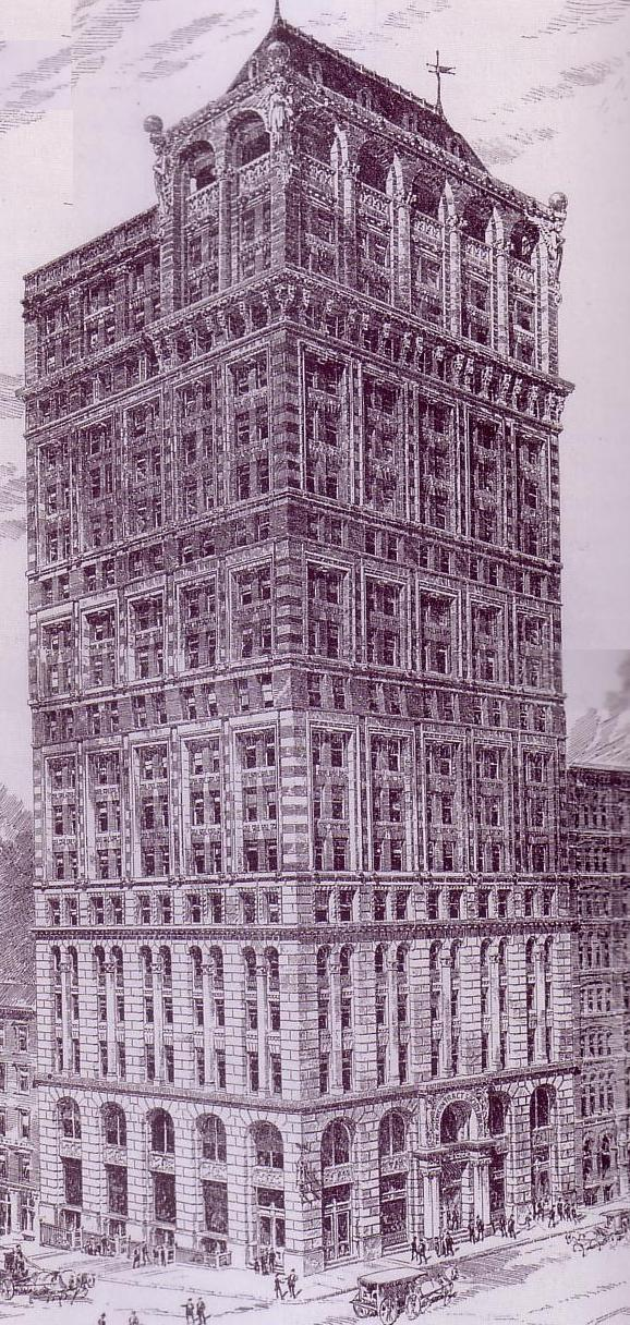 Drawing of the [[American Tract Society Building]], standing since 1894