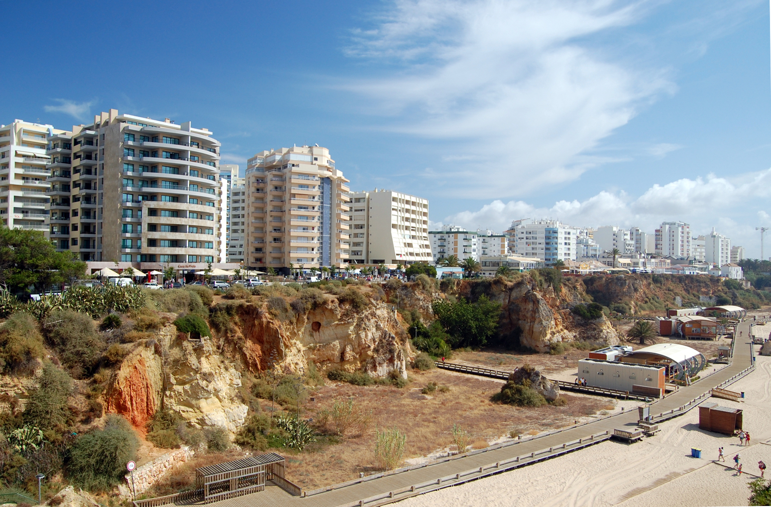 Portimao Portugal  City new picture : Apartment buildings at Praia da Rocha, Portimão Wikimedia ...