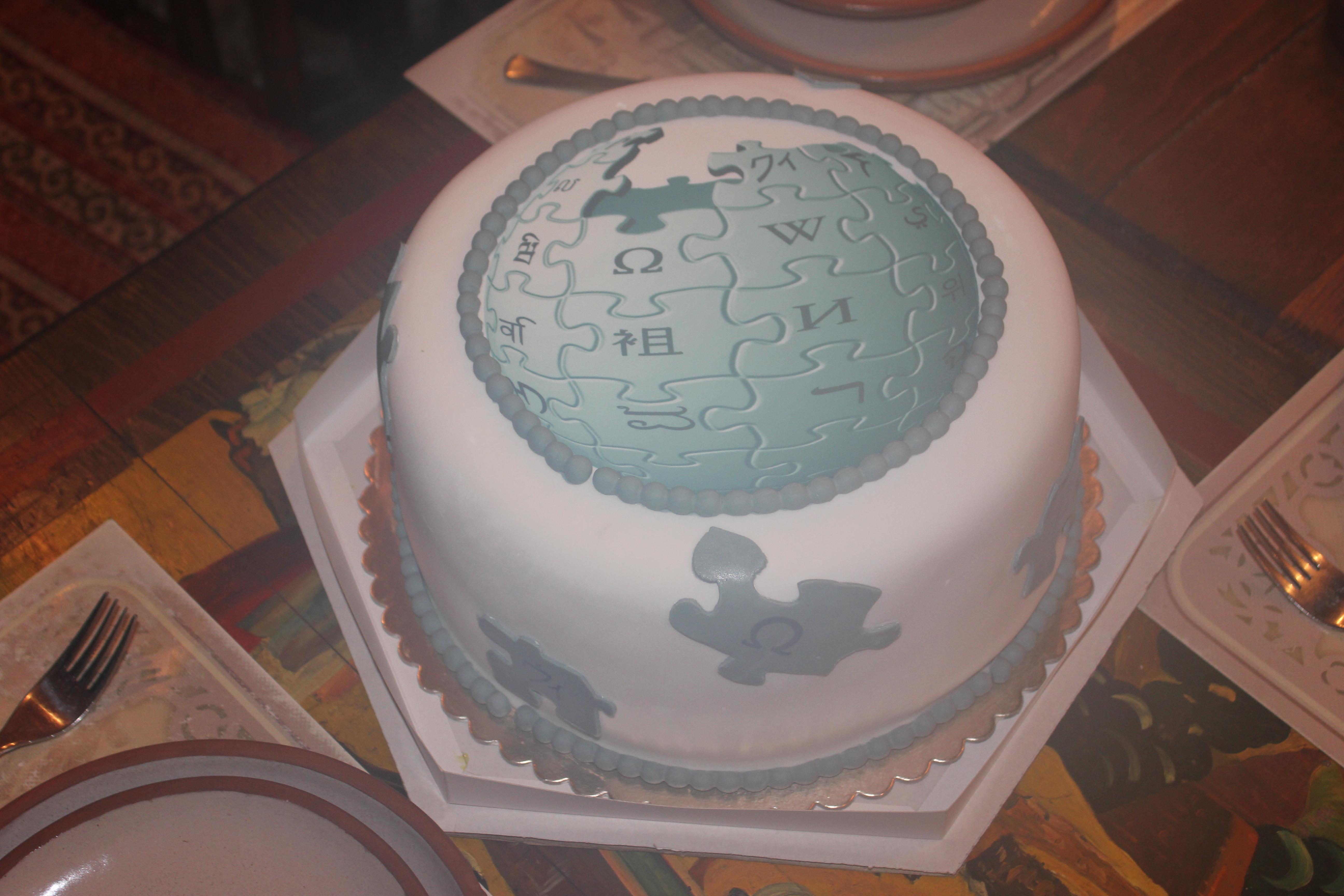 Tremendous File Armenian Wiki Birthday Cake 2013 Jpg Wikimedia Commons Funny Birthday Cards Online Aeocydamsfinfo