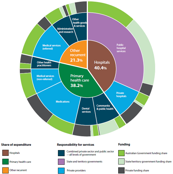 Responsibility Chart: Australian health care system - Health services-funding and ,Chart
