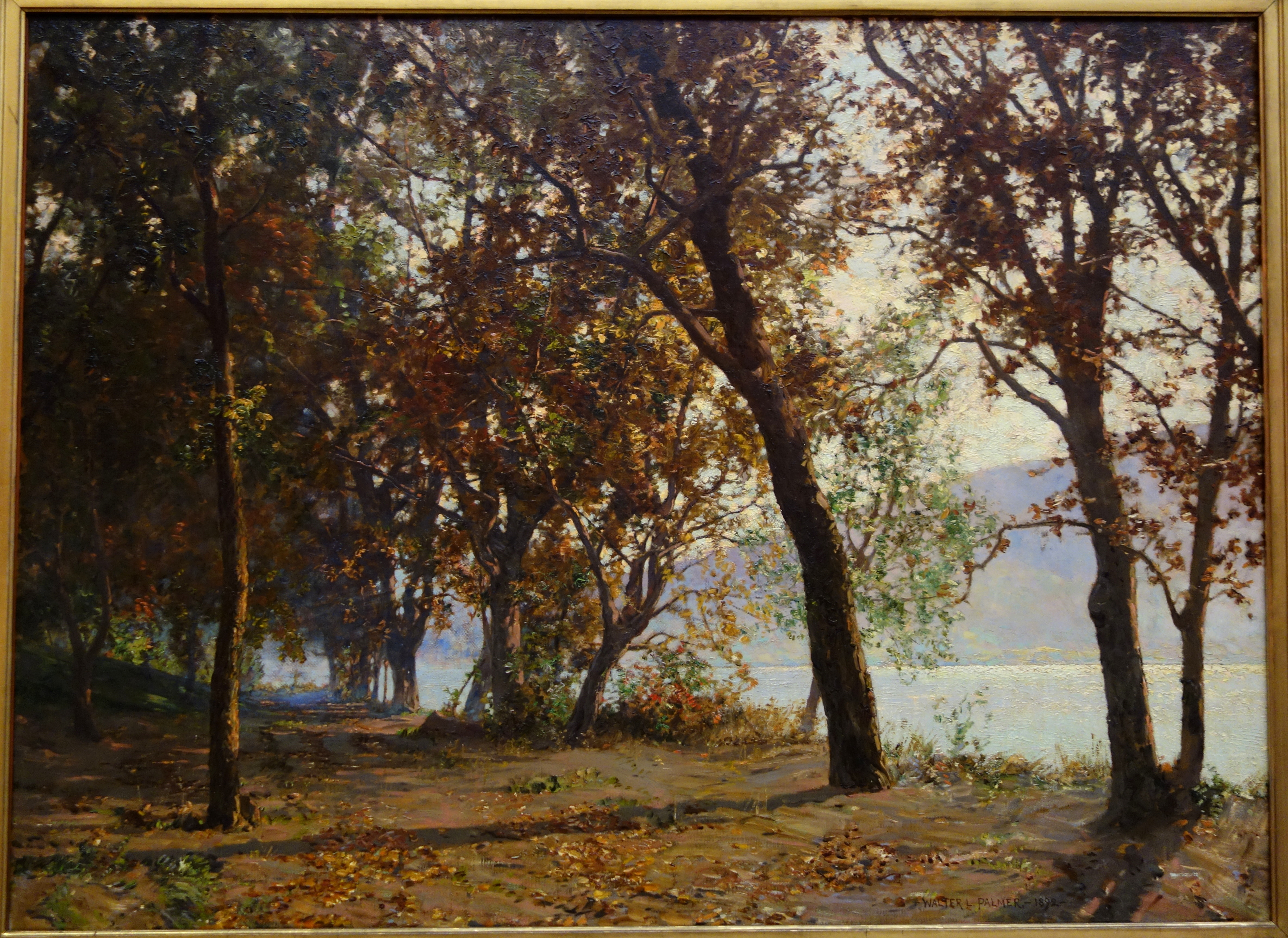 File Autumn Morning Mist Clearing Away By Walter Launt