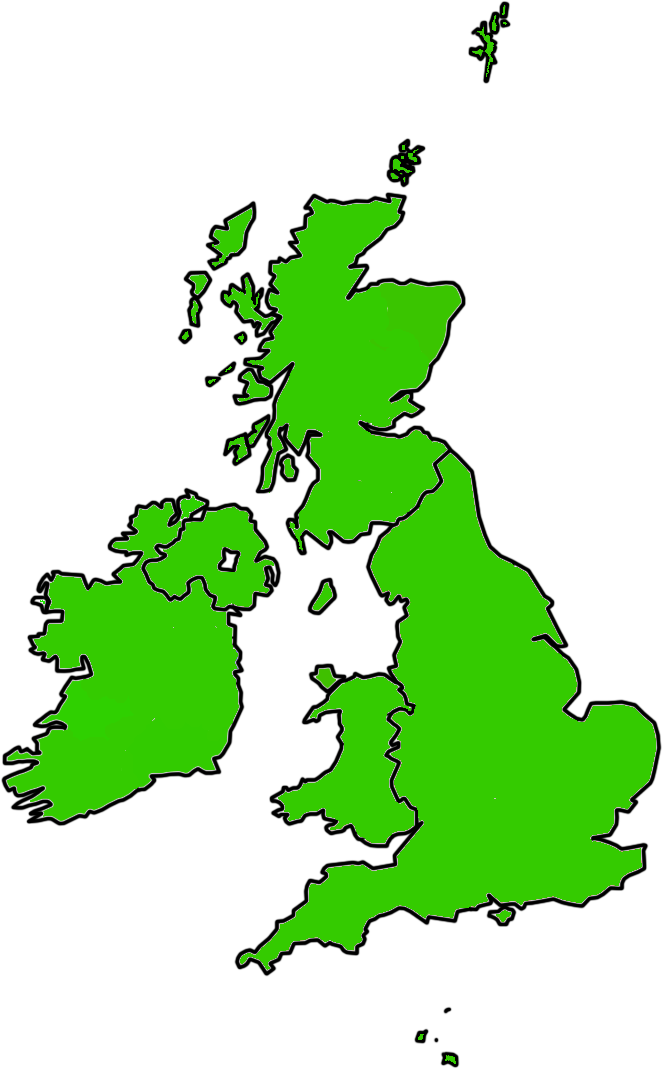 blank map british isles blank