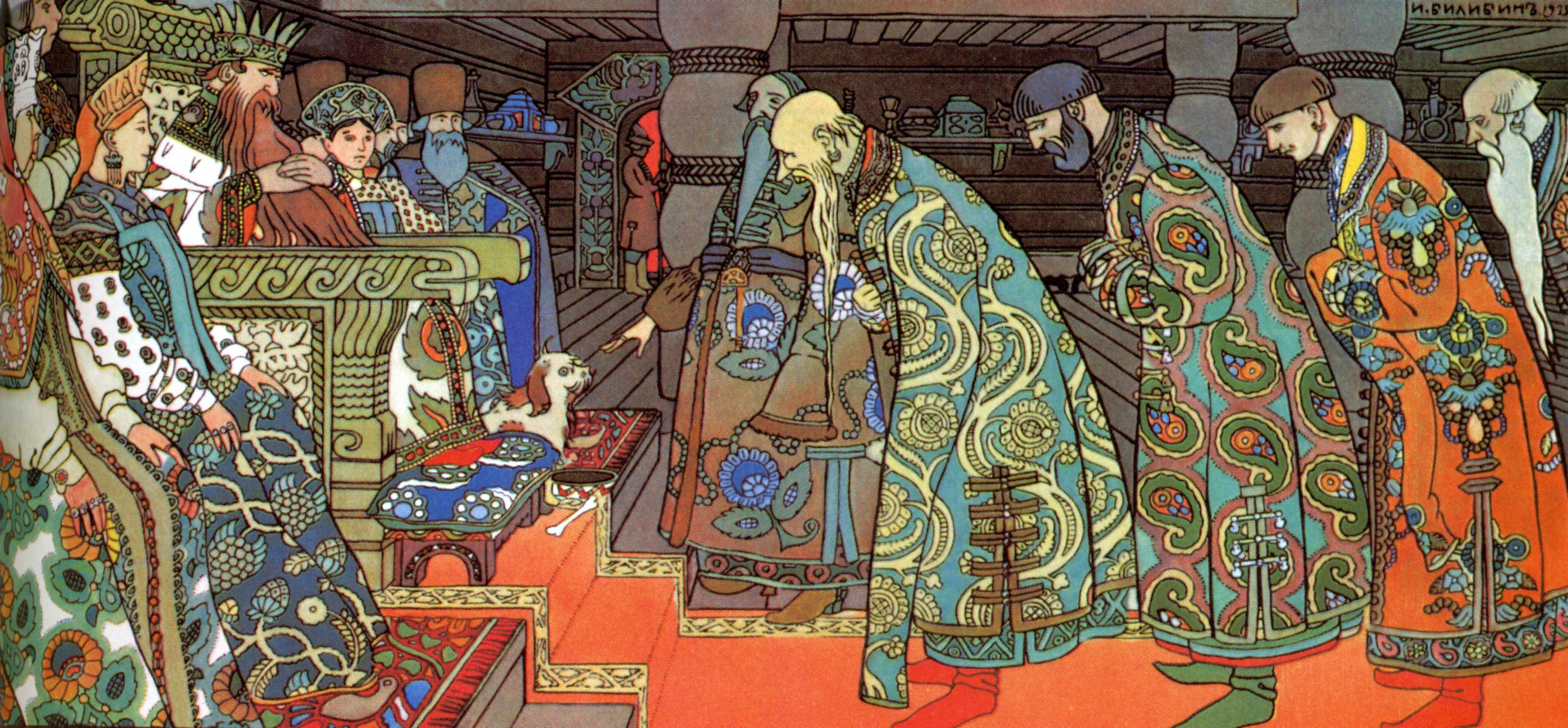 """Illustration pour """"Le Conte du tsar Saltan"""", Kommersant"""