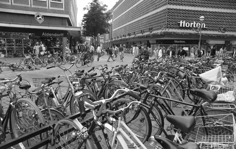 Fahrräder im Weg