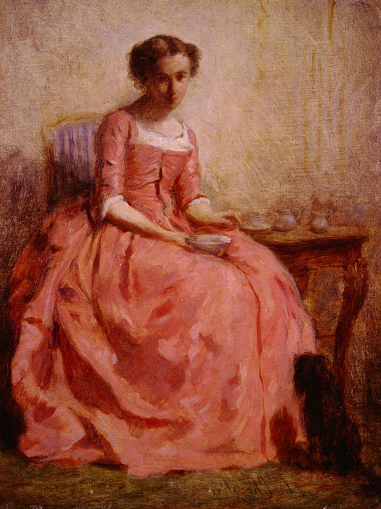 Картина Дама В Розовом Платье