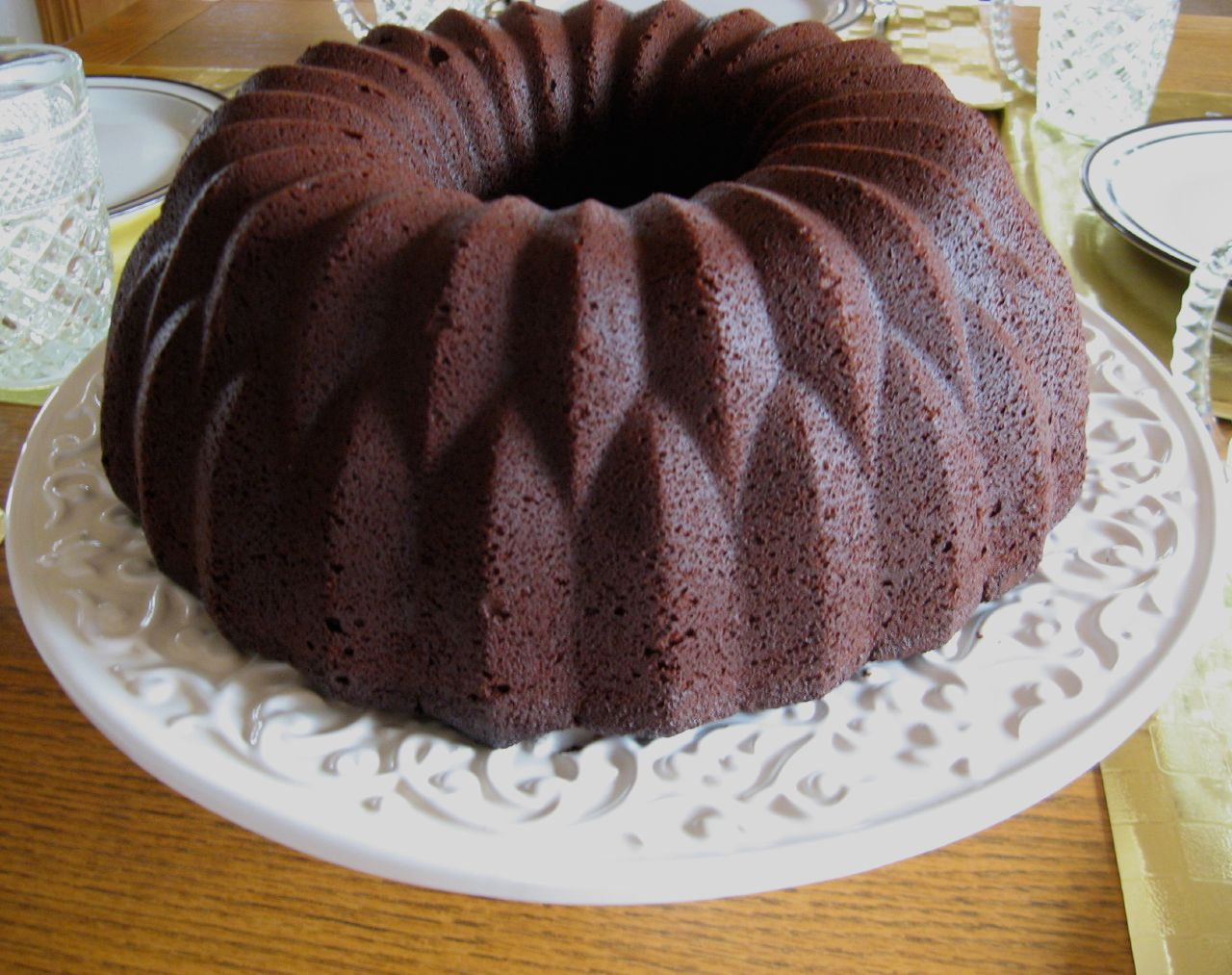 Chiffon Cake In Bundt Pan