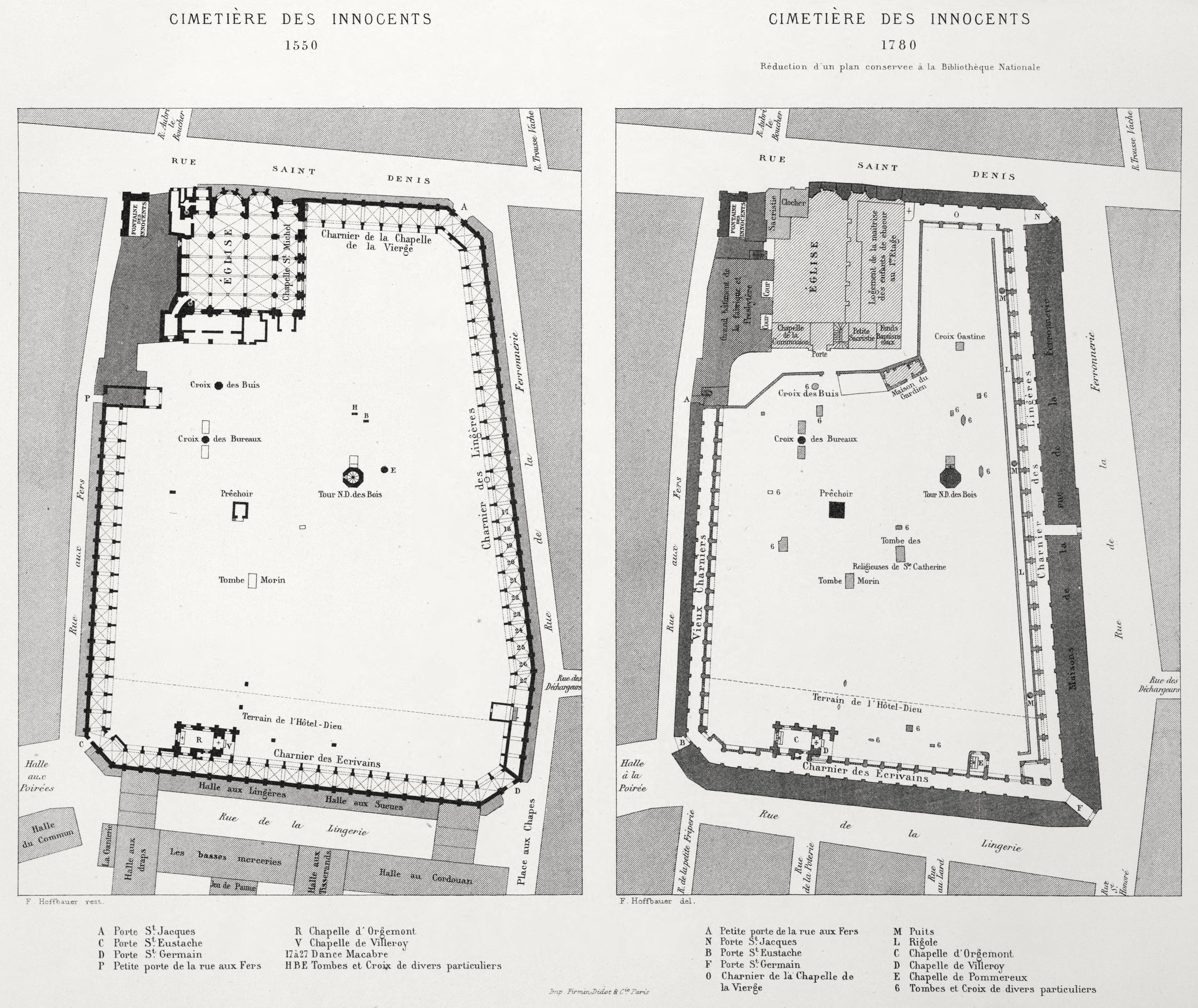 План кладбища Невинноубиенных младенцев