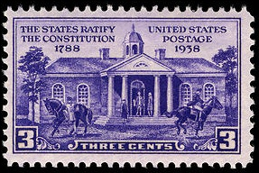 Constitutional ratification 1938 U.S. stamp.1