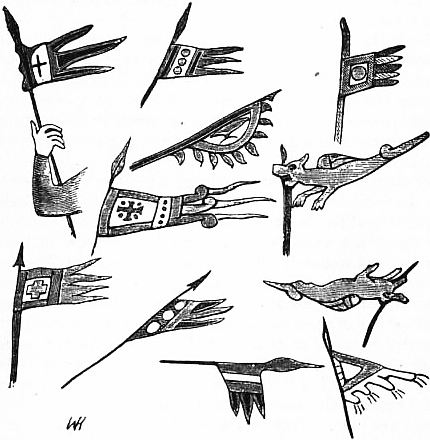EB1911 Flag Fig. 4—Pennons and Standards from the Bayeux Tapestry.jpg