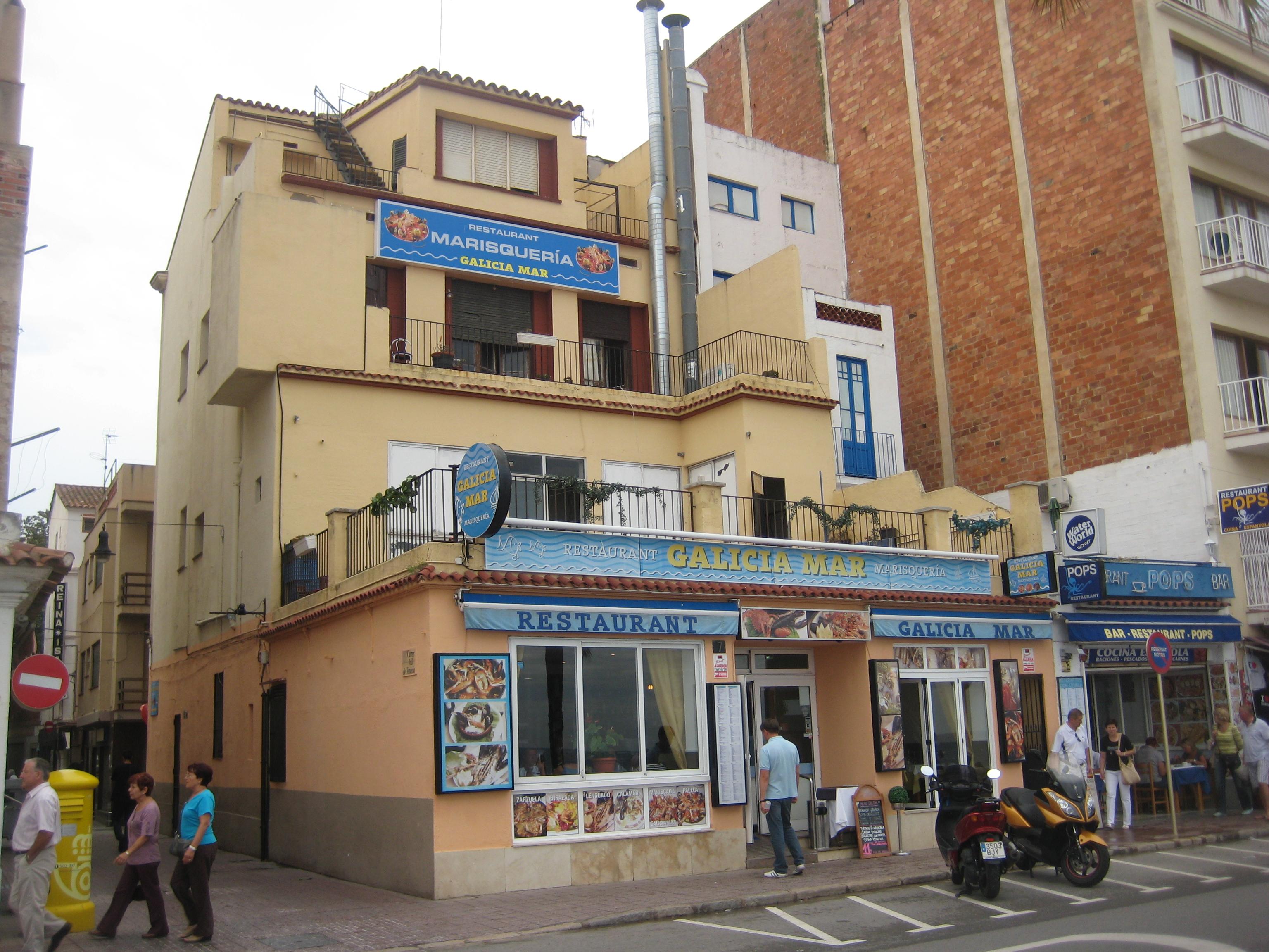 file fish restaurant on quay lloret de mar spain jpg wikimedia commons. Black Bedroom Furniture Sets. Home Design Ideas