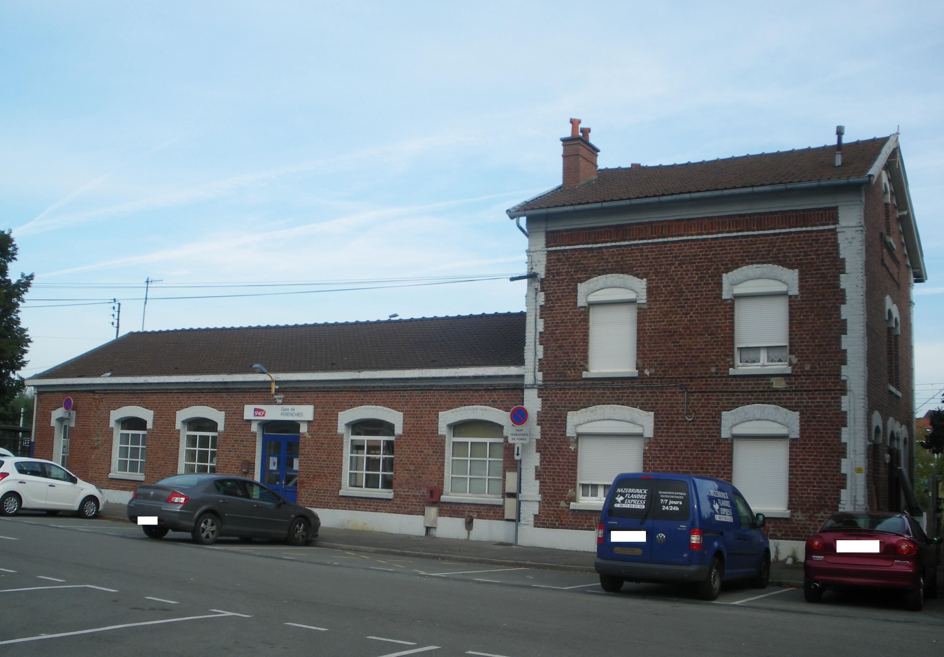 Gare de Pérenchies — Wikipédia