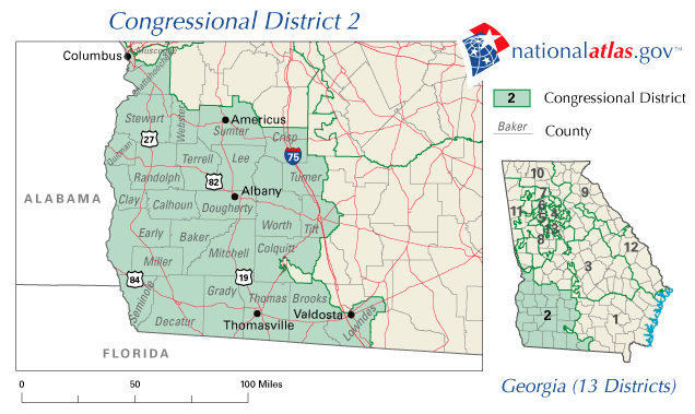 Map Of Georgia Voting Districts.File Georgia S 2nd District Map 2002 2005 Png Wikimedia Commons