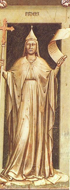 Giotto - Scrovegni - -44- - Faith