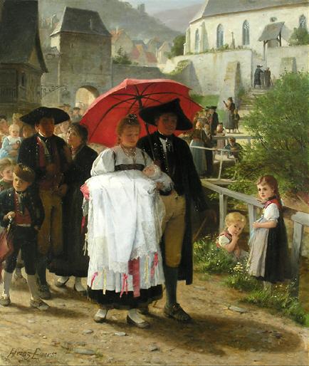 Heinrich Ewers Heimweg von der Taufe