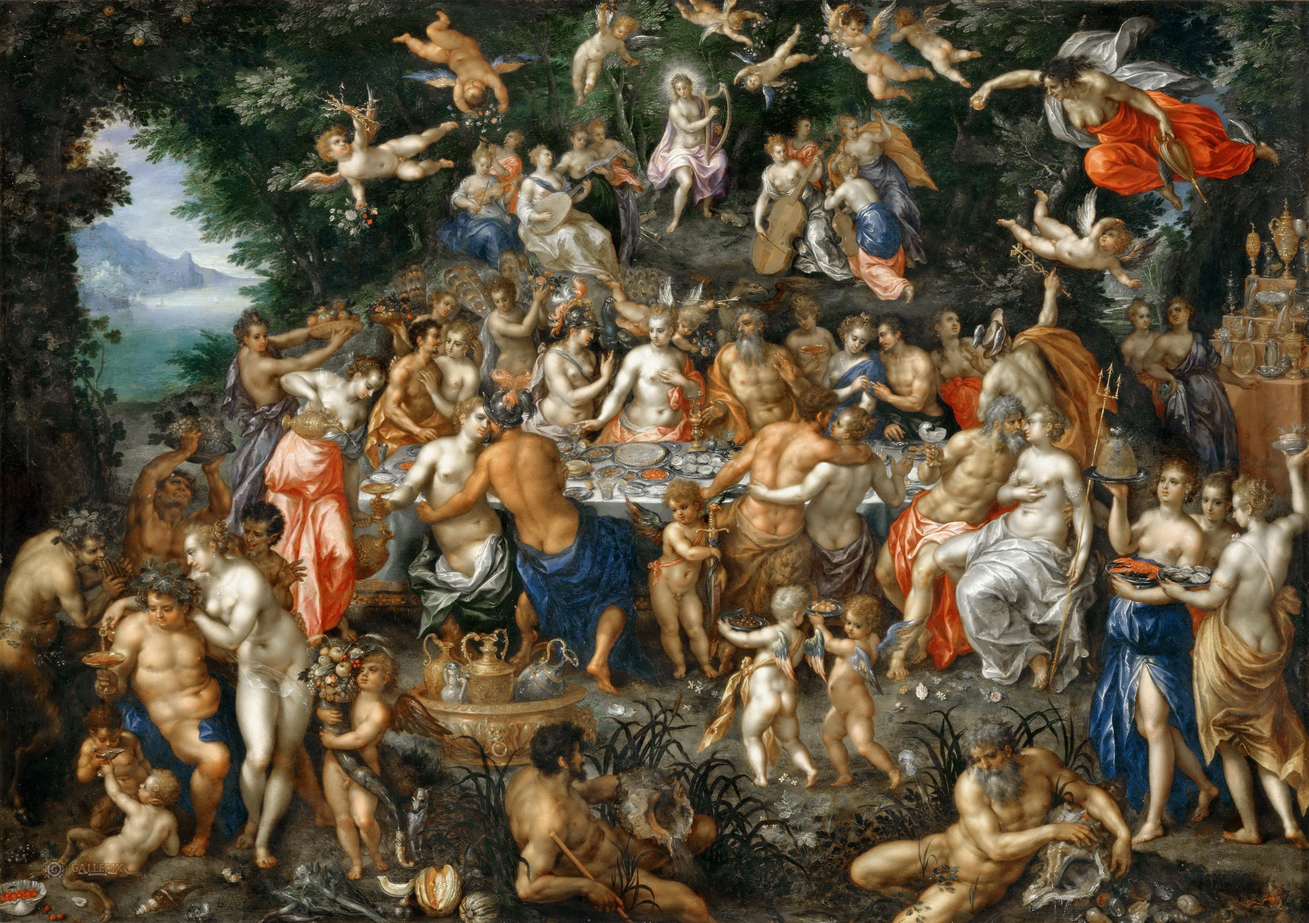 File:Hendrik de Clerck - The Nuptials of Thetis and Peleus